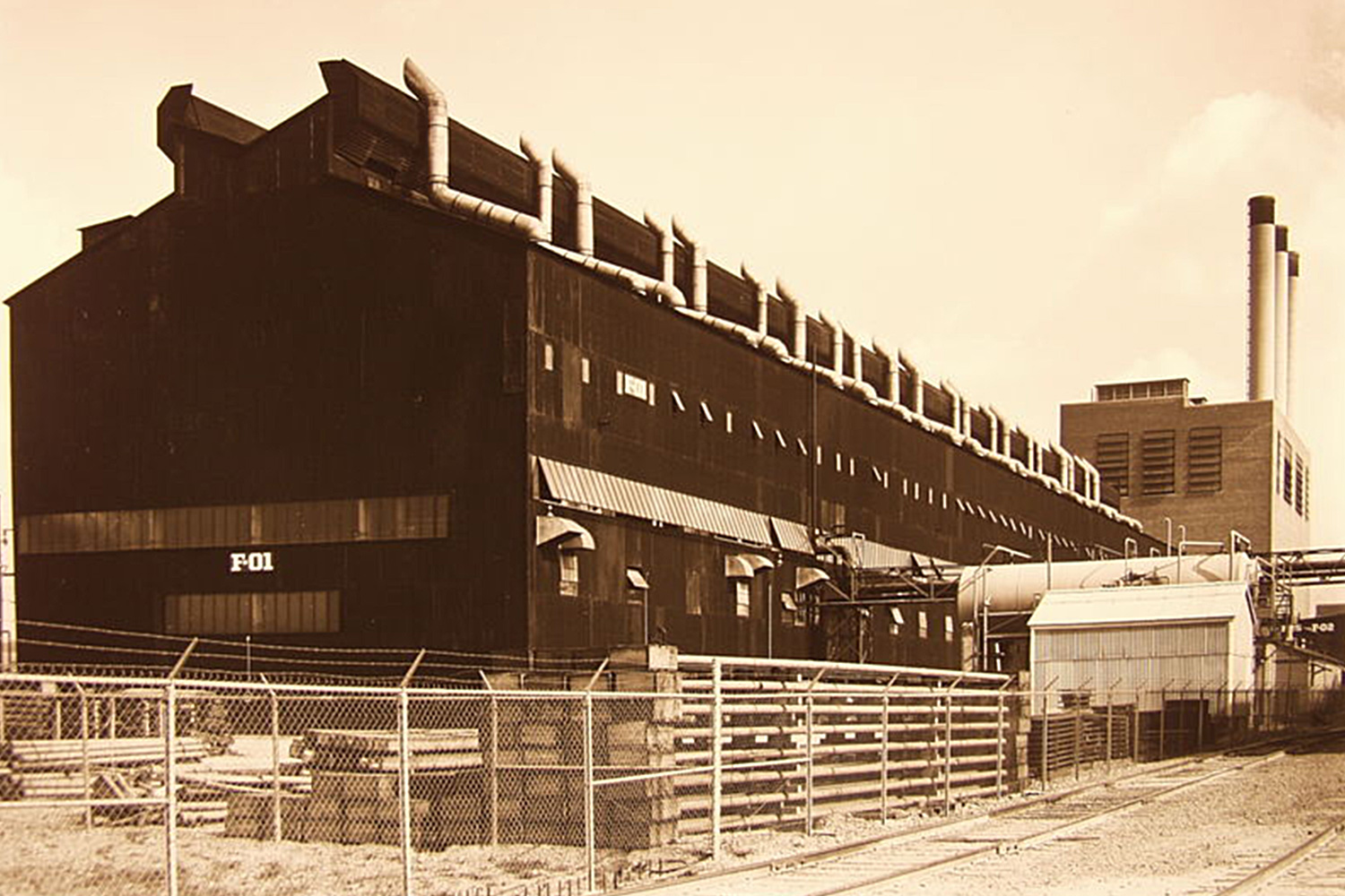 F-01 Building of the S-50 project that housed the uranium enrichment process equipment